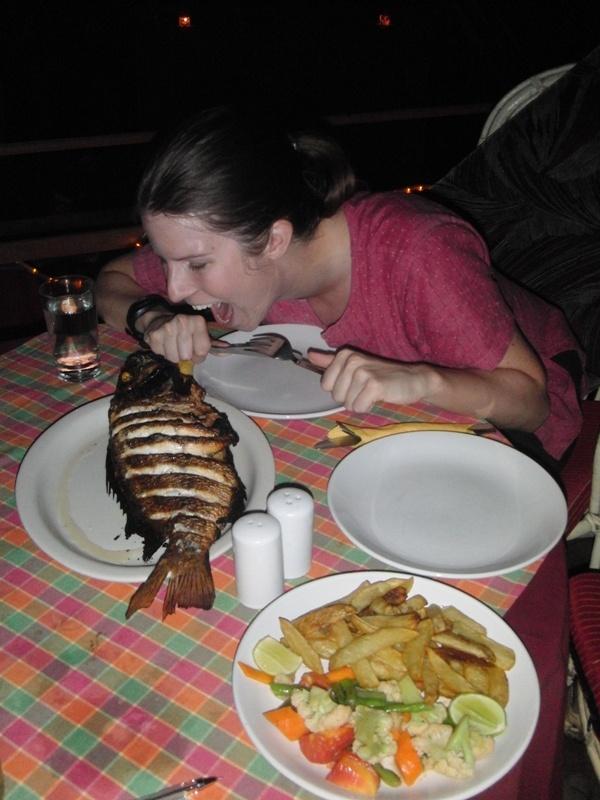 unser letztes Festmahl in Varkala