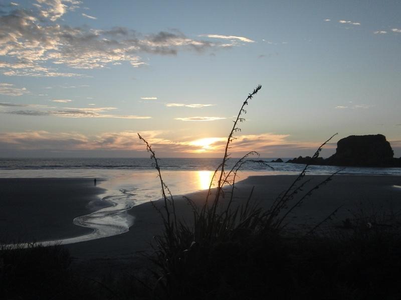 "Sonnenuntergang in der ""Tauranga Bay"""