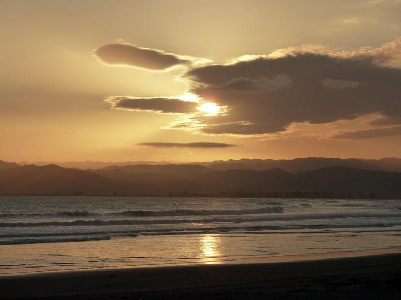 Sonnenuntergang, Gisborne
