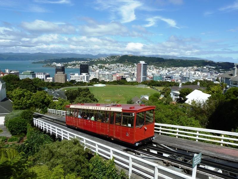 Wellington, die Hauptstadt von Neuseeland