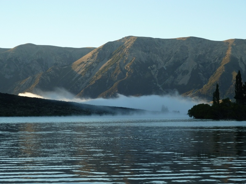 Fruehmorgens am Lake Pearson...