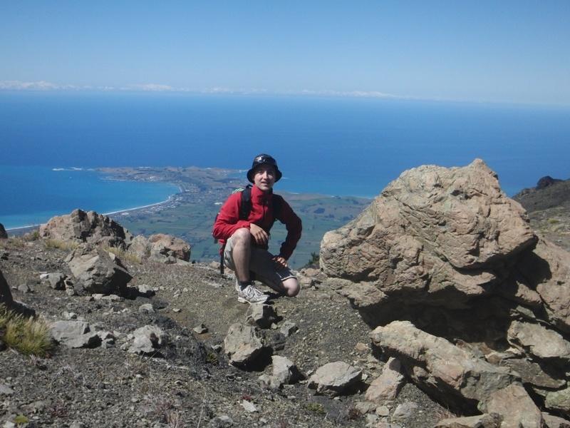 """Gipfelbesteigung des """"Mount Fyff"""" mit Sicht auf """"Kaikoura Peninsula"""""""