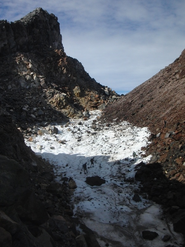 Eisfeld kurz vorm Gipfel