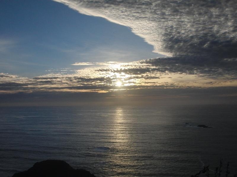 """Sonnenuntergang am """"Paritutu Rock"""""""