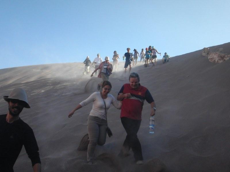 ...und runter gehts die Sandduene! :)
