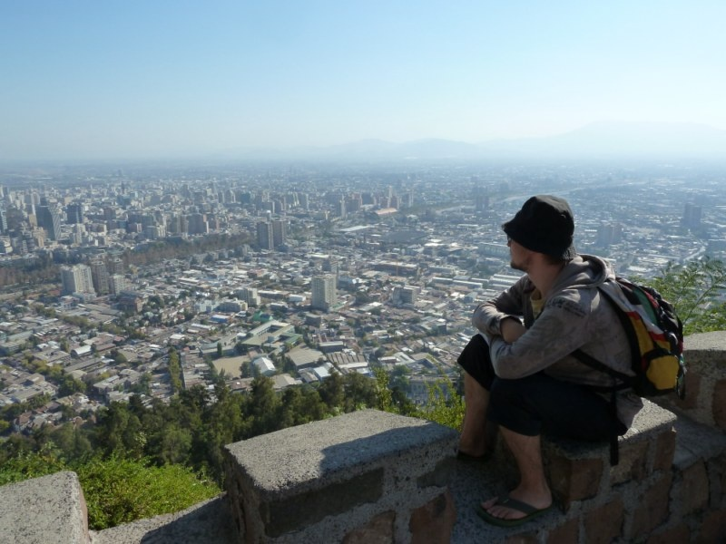 """Ausblick vom kleinen Berg """"Cerro San Cristobal"""""""
