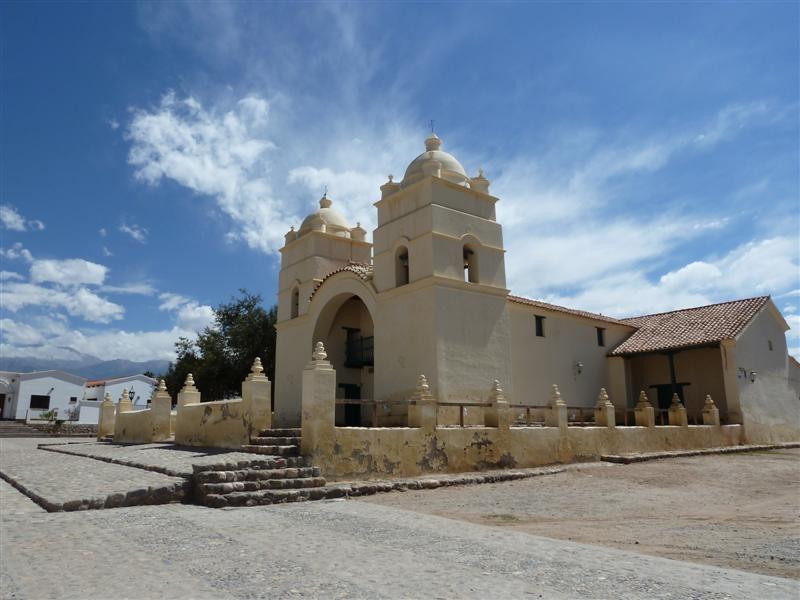 Kirche von Molinos, hier haben wir Rast gemacht und Empanadas gegessen